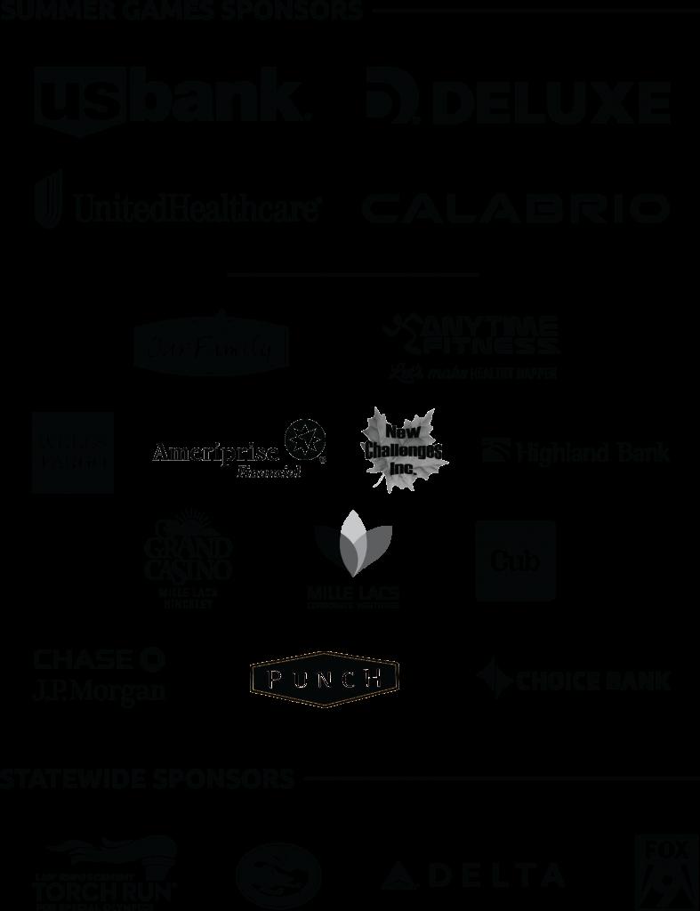 Special Olympics Minnesota 2019 Summer Games sponsor logos